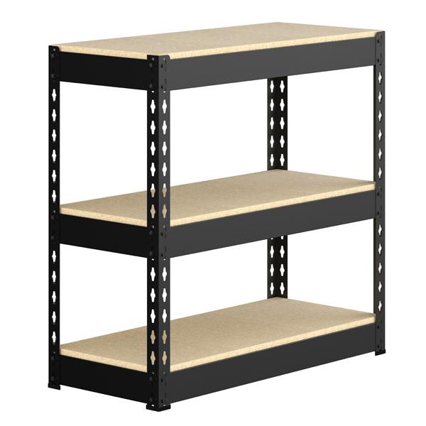 Estante multiuso metal e madeira preto 88x89 5x39 5cm for Mobiletti multiuso leroy merlin