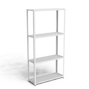 Estante multiuso metal branco 155x80x28 5cm elite a o for Mobiletti multiuso leroy merlin