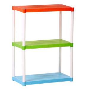 Estante Utilitária Plástica 3 Prateleiras Radical Kids Colorida 94x70x38cm Ordene