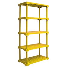 Estante Utilitária Plastico 5 Prateleiras Amarelo 166,2x41,7x82,2cm Grift