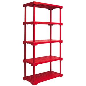 Estante Utilitária Plastico 5 Prateleiras Vermelho 166,2x41,7x82,2cm Grift