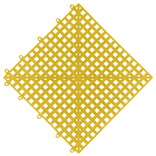 Estrado 0,3x0,3x0,015cm Amarelo Plástico Impallets