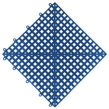Estrado 0,3x0,3x0,015cm Azul Plástico Impallets