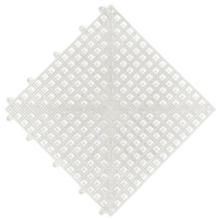 Estrado 0,3x0,3x0,015cm Branco Plástico Impallets