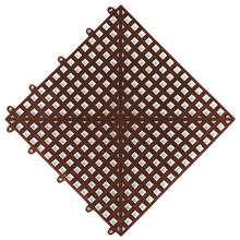 Estrado 0,3x0,3x0,015cm Marrom Plástico Impallets