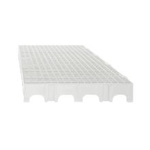 Estrado 25x50x5cm Branco Plástico Impallets