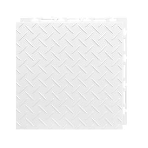 Estrado 30x30cm Branco Plástico Diamante Piso Fácil NAI BR