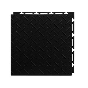 Estrado 30x30cm Preto Plástico Diamante Piso Fácil NAI BR