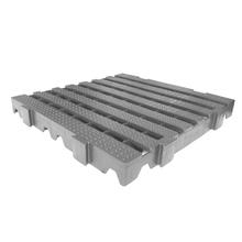 Estrado 40x40x4,5cm Cinza Plástico Impallets