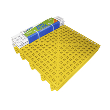 Estrado 8x30x30cm Amarelo Plástico 4 peças Impallets