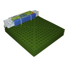 Estrado 8x30x30cm Verde Plástico 4 peças Impallets