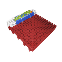 Estrado 8x30x30cm Vermelho Plástico 4 peças Impallets