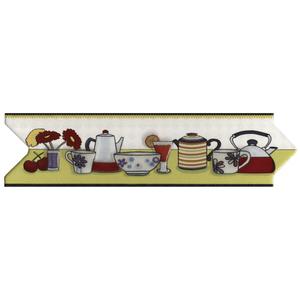 Faixa Decorativa Cocina Moderna Cerâmica 7x25cm Gabriela