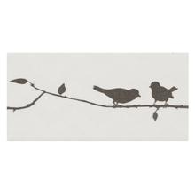Faixa Decorativa Retangular Cerâmica Birds 15x7,5 Artens