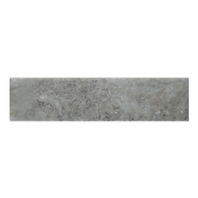 Faixa Decorativa Retangular Cerâmica Brick Cinza 8,5x35cm Artens