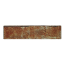 Faixa Decorativa Retangular Cerâmica Brick Marrom 8,5x35cm Artens