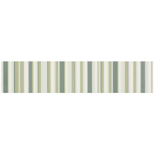 Faixa Decorativa Brilhante Retangular Cerâmica Grafic Verde Verde 7x33,5cm Eliane