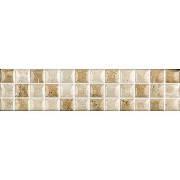 Faixa decorativa retangular cer mica hdlr 11001 35x8 5cm for Ceramica decorativa pared