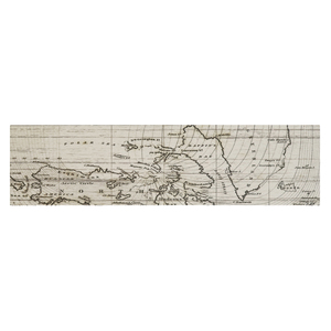 Faixa Decorativa Retangular Cerâmica Mapa 7,5x15cm Artens