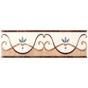 Faixa Decorativa Brilhante Retangular Cerâmica Topazio Beige 10,5x33,5cm Eliane