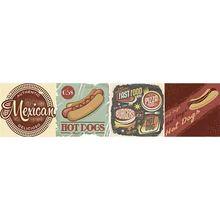 Faixa Decorativa Retangular Cerâmica Vintage Fast GVT05 8,5x35cm Artens