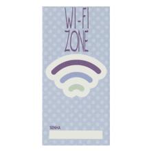 Faixa Decorativa Retangular Cerâmica Wifi Azul 15x7,5 Artens