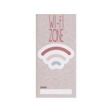 Faixa Decorativa Retangular Cerâmica Wifi Rosa 15x7,5 Artens