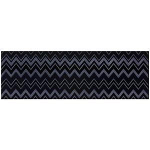 Faixa Decorativa Retangular Brilhante Cerâmica Zingara Viola Azul e Preto 11x34cm Lineart