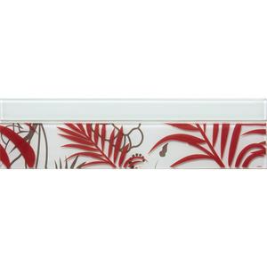 Faixa Decorativa Retangular Vidro Duo 7,5X30 cm Vetromani