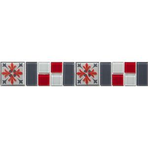 Faixa Decorativa Retangular Vidro Greco 5X31,5 cm Vetromani