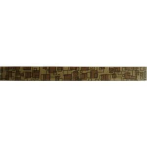 Faixa Decorativa Retangular Vidro Quadratto 5X60 cm Vetromani