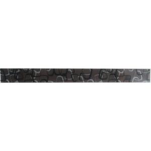 Faixa Decorativa Retangular Vidro Ring 5X60 cm Vetromani