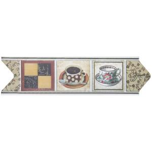 Faixa Decorativa Universal Brilhante Cerâmica 5142 HD Colorida 8x30,6cm Ceusa