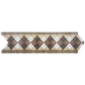 Faixa Decorativa Universal Acetinada Cerâmica 5170 HD Bege 8x30,6cm Ceusa