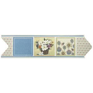 Faixa Decorativa Universal Acetinada Cerâmica 5173 HD Colorida 8x30,6cm Ceusa