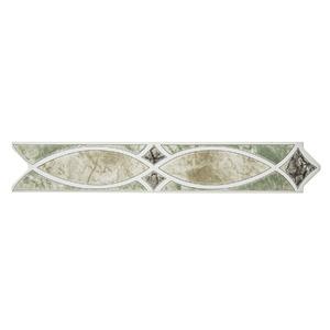 Faixa Decorativa Semi-Brilho Universal Cerâmica Cabul 5,5X31,2 cm Incepa
