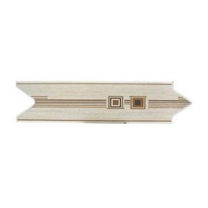 Faixa Decorativa Universal Brilhante Cerâmica F097 Bege 8x30cm Lineart