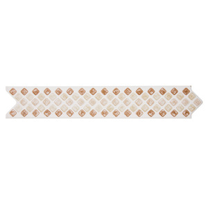 Faixa Decorativa Semi-Brilho Universal Cerâmica Quadrato 5,5X31,2 cm Incepa