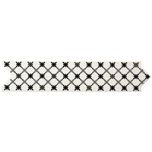 Faixa Decorativa Brilhante Universal Cerâmica Uni Star Preta Preto 7,5x33,5cm Eliane