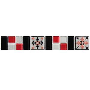 Faixa Decorativa Greco Retangular 5x31,5cm Vetromani