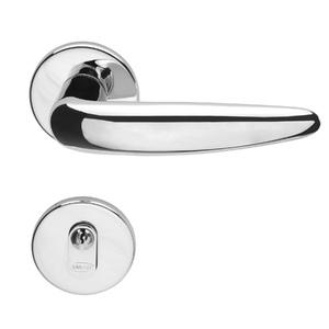 Fechadura para Portas de Banheiro 55mm Aço Cromado Acetinado Duna Imab