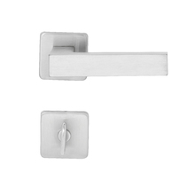 Fechadura Porta Banheiro 40mm Aço Cromado Acetinado Quadra Z Arouca