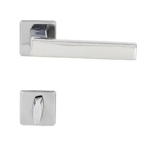 Fechadura Banheiro 55mm Aço Inox Polido Quadra Arouca