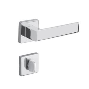 Fechadura para Portas de Banheiro 40mm Aço Cromado Duna Imab