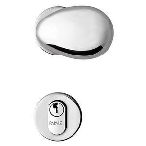 Fechadura de Banheiro Bola Design Cromado 55mm - Papaiz