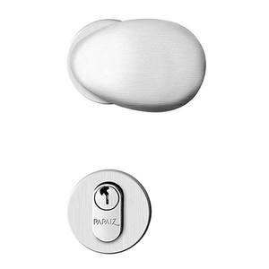 Fechadura de Banheiro Bola Design Cromo Acetinado 55mm - Papaiz