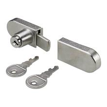 Fechadura para Porta de Vidro com Chave Aço Prata Hettich