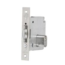 Fechadura para Porta Pivotante 45mm Aço Inox Cromado Acetinado V378 La Fonte