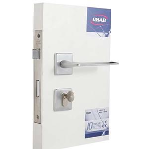 Fechadura para Portas de Entrada - Zamac Cromado Acetinado 55mm Imab