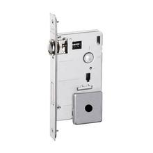 Fechadura para Portas Pivotante Trinco Rolete 55mm Latão Cromado Acetinado BZ1710G80 Imab